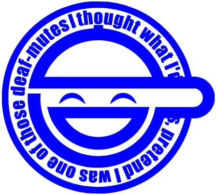 Amazon Com Bamfdecals Laughing Man Ghost In The Shell Vinyl Decal Sticker Small Or Large Sizes Small Blue Automotive