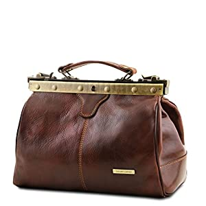 Tuscany Leather – Michelangelo – Doctor Gladstone Leather Bag Black – TL10038/2