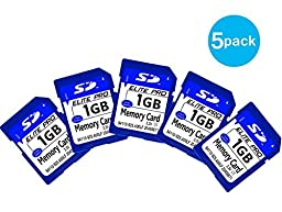 Emarth Secure Digital(SD) Flash Memory Card with High Speed 1GB(5 pack) Blue