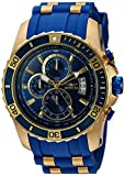 Invicta Men's Pro Diver Stainless Steel Quartz Watch with Polyurethane Strap, Blue, 26 (Model: 22431)