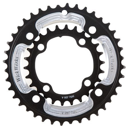 WickWerks 40/26t 120/80 BCD Mountain Chainrings for Sram 2x10 by WickWerks