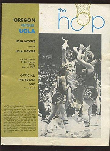Jan 7 1977 NCAA Basketball Program Oregon at UCLA VG ()