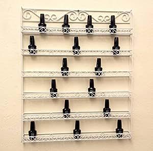 Amazon.com: Pana White Nail Polish Display Organizer Metal