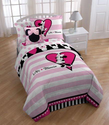 "Disney Minnie Mouse Hearts 39"" x 75"" Twin Sheet Set"