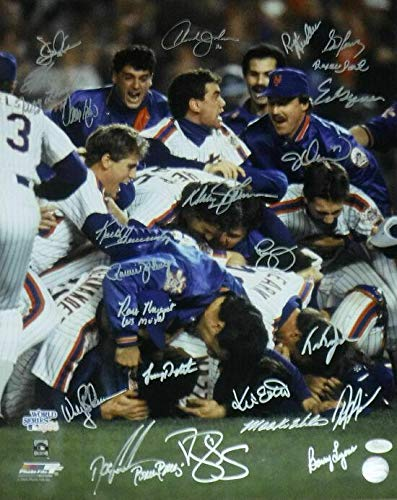 New York Mets 16x20 Photo - 1986 WORLD CHAMPION NEW YORK METS SIGNED 16X20 PHOTO PILE w/25 15652 - JSA Certified - Autographed MLB Photos
