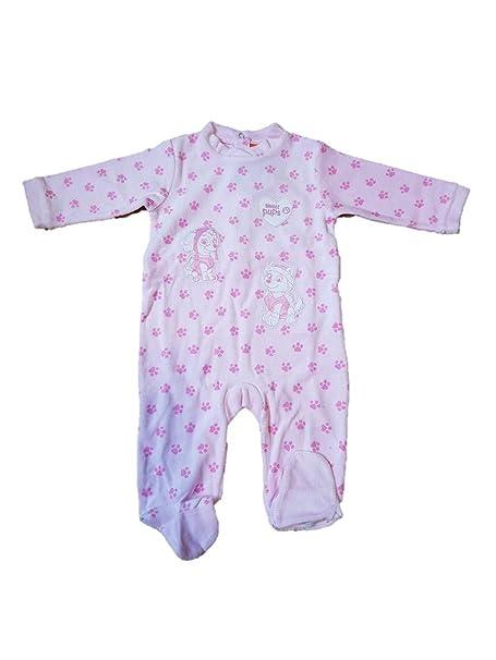 Patrulla Canina Pijama Pelele para Bebe niña Color Rosa con Bordados (9 M)