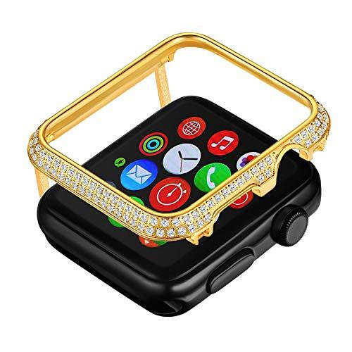 Callancity Zircon Case Bezel Face Cover Housing Compatible with Apple Watch Series 3 2 1 for Men/Women ()
