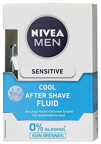 Nivea Men Sensitive Cool After Shave Fluid, 3er Pack (3 x 100 ml)