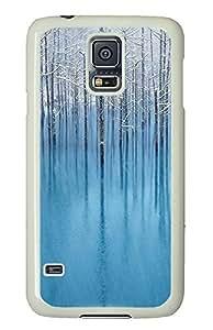 Samsung S5 custom case blue pond PC White Custom Samsung Galaxy S5 Case Cover by supermalls