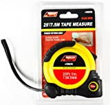 Tape Measure, 25ft Professional Tape Measure Roll ,Retractable 25 Ft Utility Measuring Tape w/ Safety Strap