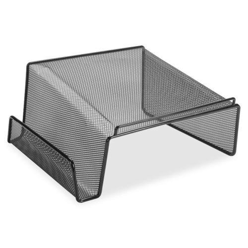 84155 Lorell Angled Height Mesh Phone Stand - 11.1'' x 10.1'' x 5.3'' - Steel - 1 Each - Black