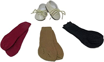 American Girl Maroon Socks from Josefina Shoes /& Socks Set NWOB