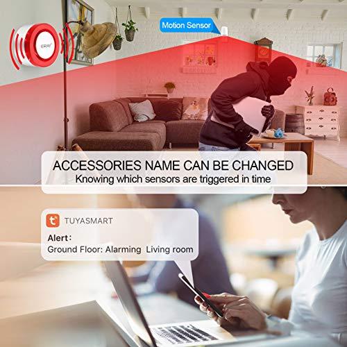 Hacevida Wi-Fi Home Alarm System Wireless, Smart WiFi Home Security System  Wireless TUYA App Burglar Alarm, Wireless Door Alarm Smart Alert Compitable