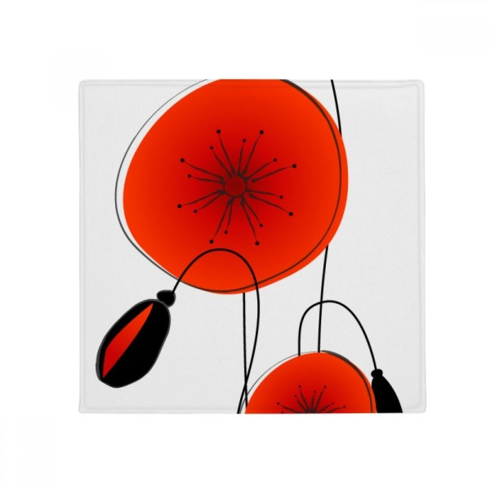 DIYthinker Abstract Flowers Painting Corn Poppy Anti-Slip Floor Pet Mat Square Home Kitchen Door 80Cm Gift