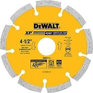 Dewalt Dw4713 Industrial 4 1 2 Inch Dry Cutting Segmented