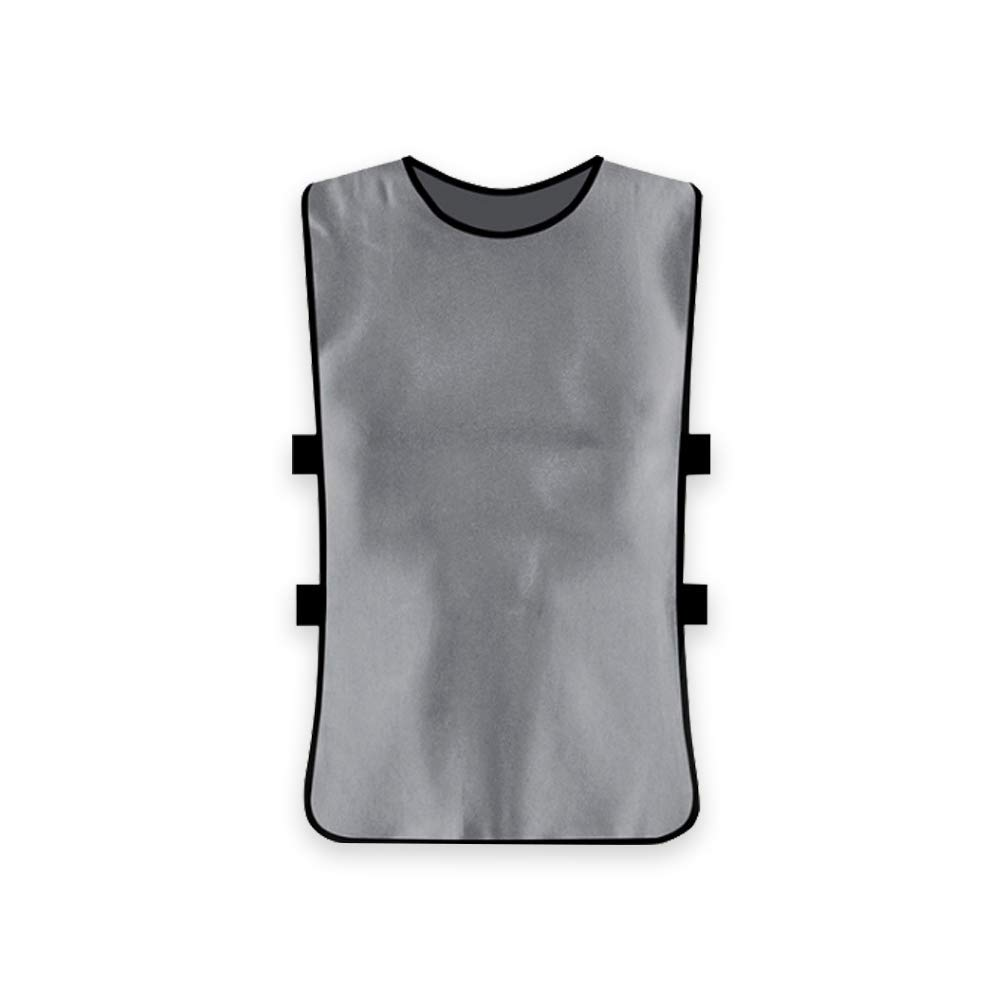 Yevison Team Training Vests Scrimmage Pinnies Vests Sports Clothes for Adult Silver Gray Premium Quality