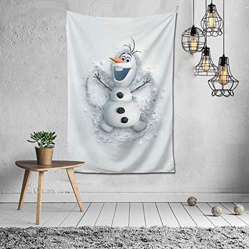 huatongxin Frozen Olaf Tapisserie, Tenture Poster Tapisserie for Living Room Dorm Décoration de Maison, 40×60 inches