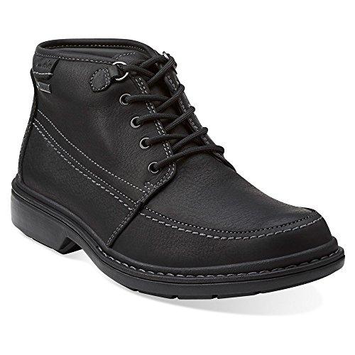 Clarks Men's Rockie Top Gtx Boot Black Leather Size 11 D US