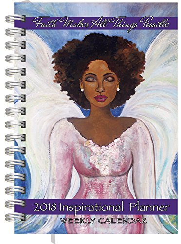 Shades of Color Weekly Inspirational African American Planner, Faith Makes All Things Possible - African Shades