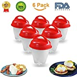 Egg Cooker Hard and Soft Boiled Eggs – BPA Free Non Stick Silicone – No More Egg Shells to Peel, Poacher , Steamer – As Seen on TV by A N C