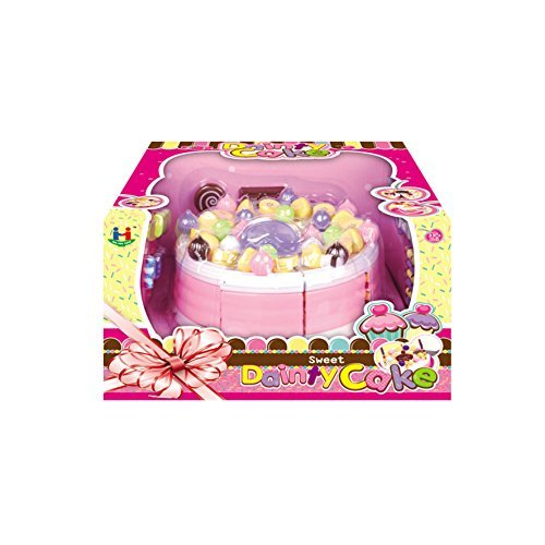 Little Big World MultiPiece Birthday Cake Toy Set with Cake Decorations, Pink by Little Big World