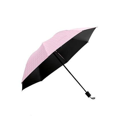 DFFDD Mujeres Protección UV Sombrilla Pequeño Fresco Enrejado Estudiante Paraguas Soleado Creativo Hombres Y Mujeres Plegable