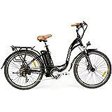 """Moma - Bicicleta Eléctrica Paseo SHIMANO, ruedas de 26"""", Aluminio, Batería Ion-Litio 36V 16Ah"""