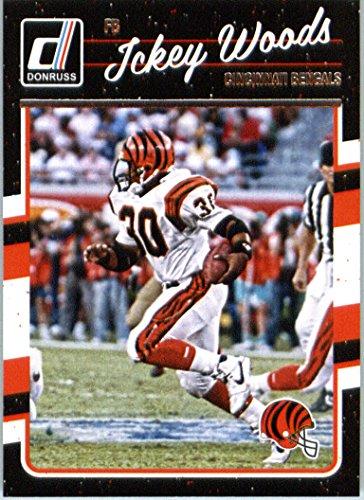 Ickey Cincinnati Woods Bengals - 2016 Donruss #66 Ickey Woods Cincinnati Bengals Football Card in Protective Screwdown Display Case