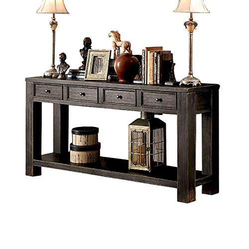 247SHOPATHOME IDF-4327S, Sofa Table, Antique Black
