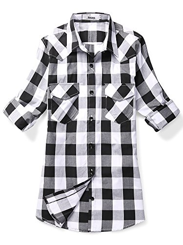 Black And White Flannel Shirt - 9