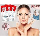 6 PACK Korean Sheet Mask Face Mask Korean Skin Care Face Masks Korean Face Mask Facial Mask Skincare Sheet Set 6 Sheets Collagen, Hyaluronic acid, Brightening, Firming and Hydrating & FREE EBOOK