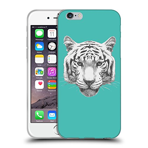 GoGoMobile Coque de Protection TPU Silicone Case pour // Q05470634 tigre blanc Turquoise // Apple iPhone 7