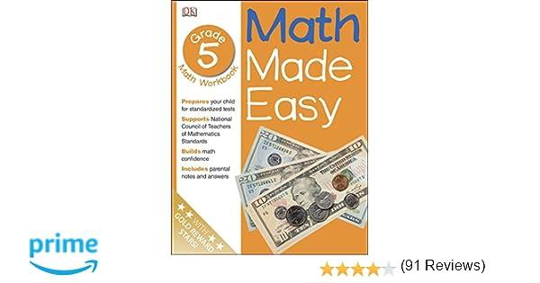Math Made Easy: Fifth Grade Workbook: DK Publishing, John Kennedy ...