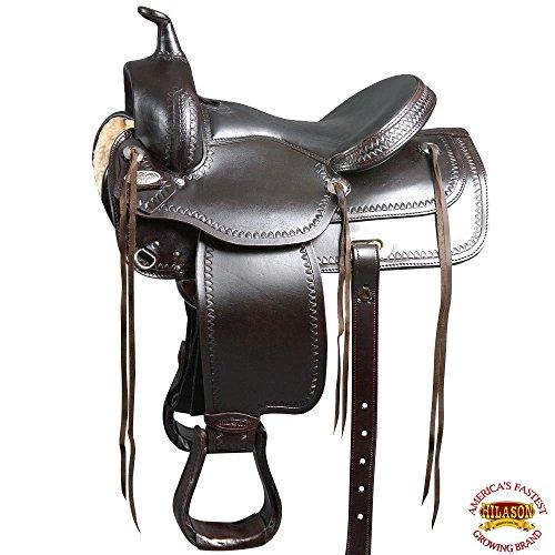 HILASON DF203VLC WIDE GULLET DRAFT WESTERN TRAIL ENDURANCE HORSE SADDLE (Draft Saddle)
