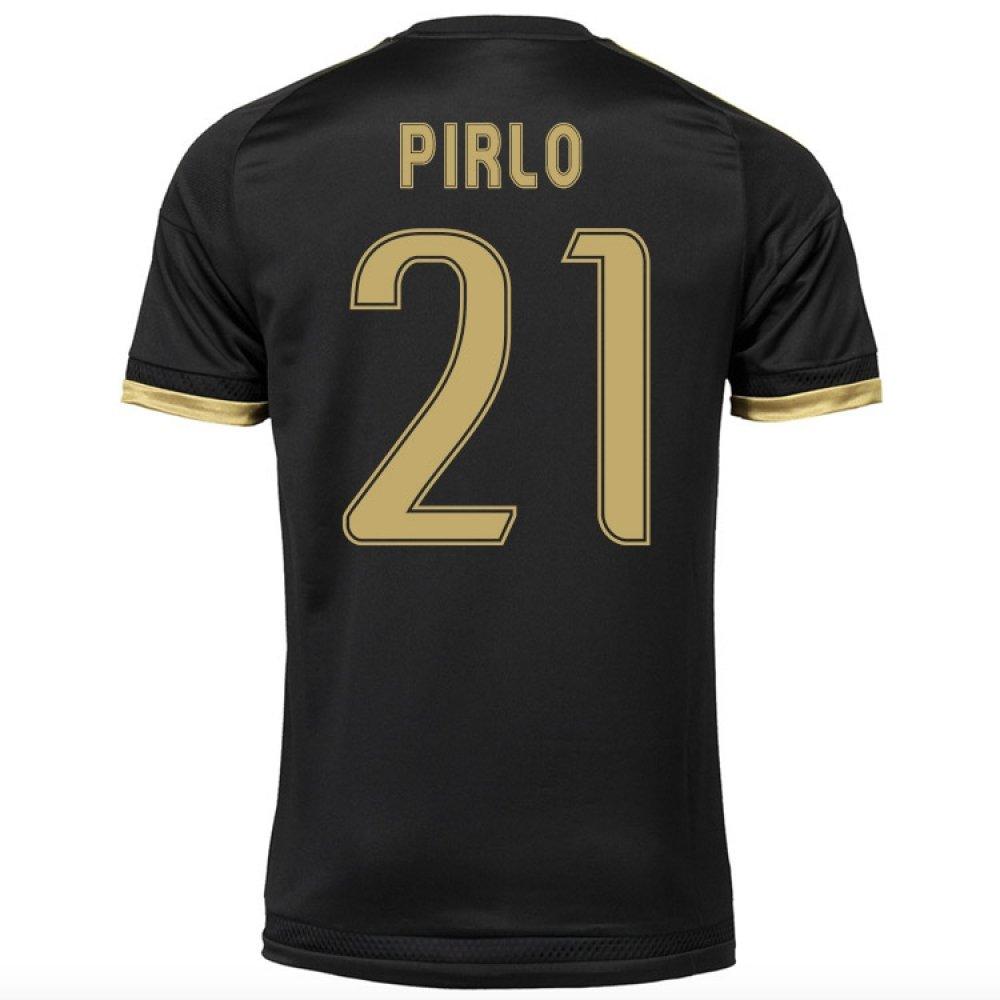 2015-16 Juventus Third Shirt (Pirlo 21) Kids B077VS4HWZBlack Small Boys 26-28\