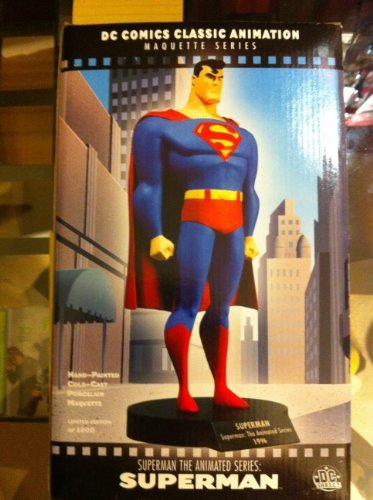 Superman Maquette From the Superman the Animated Series - DC Comics Classic Animation Maquette Series - Hand-painted, Cold-cast Porcelain Maquette, Number 1008 of 1200 Made.