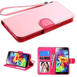 MYBAT Pink/Hot Pink MyJacket Wallet(375) (with Package) for SAMSUNG Galaxy S5