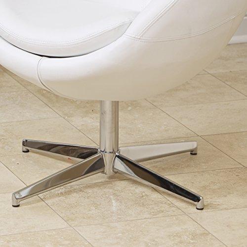 Christopher Knight Home Sphera Modern Design White Accent Chair