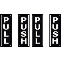 TOYANDONA 4 Stks Push en Pull Deur Teken Deur Verticale Stickers Creatieve Deur Decals voor Thuis Restaurant Supermarkt