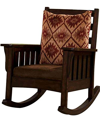 Vieja Dark Oak Mission Rocking Chair