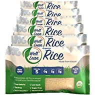 Organic Well Lean Rice, 6 Pack, 9.52 oz, Premium Shirataki Konjac Pasta, Odor Free, Keto Friendly, Non Gmo, Ready to Eat, Low Calorie, Low Carb, Gluten Free, Soy Free, Vegan, Diet Food