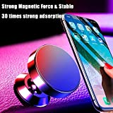 Alamana 360° Rotation Golden Magnetic Universal Car Dashboard Phone Holder Stand for Cellphone - Black