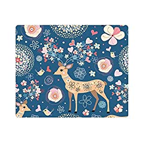 Thick 3mm Gaming Mouse Pad - Personality Mouse Pads with Design - Non Slip Rubber Mouse Mat Sika deer