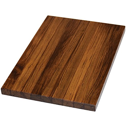 Teak Wood Edge Grain Cutting Board Handmade Reversible Butcher Block by The Practical Plankist