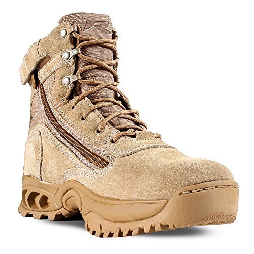 Action Leather Footwear (Ridge Footwear Men's Desert Storm With Zipper Boot,Sand,11 W US)
