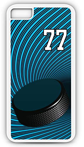 iPhone 6 Plus 6+ Phone Case Hockey H050Z by TYD Designs in White Plastic Choose Your Own Or Player Jersey Number 77 (Iphone 6 Devils Hockey Case)