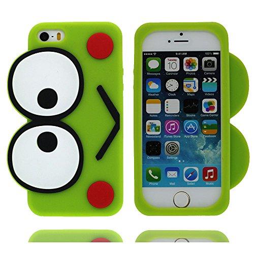 Custodia iPhone 6s Plus Case, iPhone 6S Plus / 6 Plus copertura 5.5, Nuovo di zecca TPU Cover [ Cartoon 3D frog rana ] Stile del modello Case Con materiale di alta qualità & morbido Graffi Prova