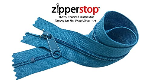 Zipperstop Wholesale YKK® 14 Inch Hottest Colors Spring/ Summer 2015 Colors YKK® #4.5 Handbag Zippers – Extra-long Pull Closed Bottom -5pcs Each Color (549 - Grotto)