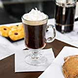 Set of 4 Libbey 5295 Irish Coffee Glass / Mug 8.5 Ounce, with Signature Party Picks