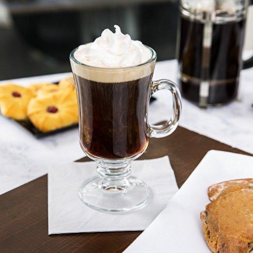 Set of 4 Libbey 5295 Irish Coffee Glass / Mug 8.5 Ounce, with Signature Party Picks Irish Coffee Stems